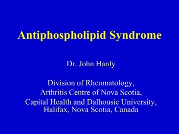 Antiphospholipid Syndrome.