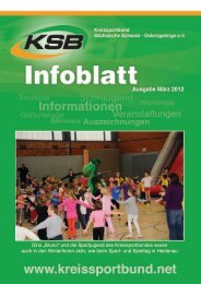 Ausgabe März 2012 - Kreissportbund Sächsische Schweiz