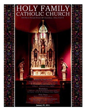 1/5/14 - Holy Family Church