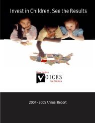 Annual Report 2005 - New Mexico Voices for Children