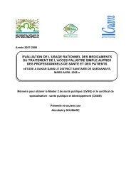 Evaluation de l'usage rationnel des médicaments du ... - ReMeD