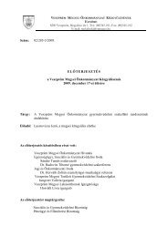 A Veszprém Megyei Önkormányzat gyermekvédelmi szakellátó ...