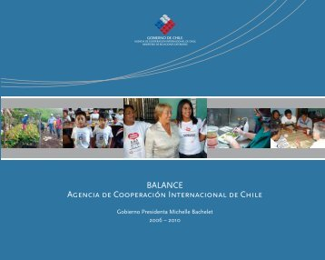 Balance Agencia de Cooperacion Internacional de Chile