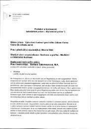 Protokol o hodnoceni bakalářské práce - diplomové práce *) Název ...