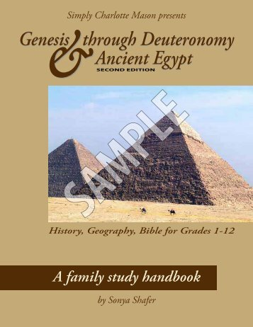 Genesis through Deuteronomy & Ancient Egypt, 2nd Edition, Sample