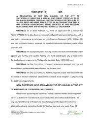 Resolution Granting a Special Use Permit - Watsonville California