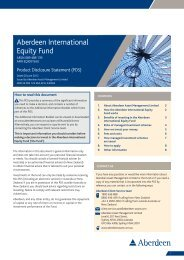 3. Benefits of investing in the Aberdeen International Equity Fund