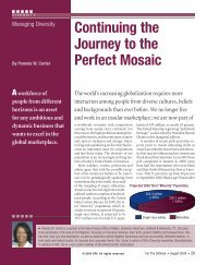 Continuing the Journey to the Perfect Mosaic - Baker Donelson