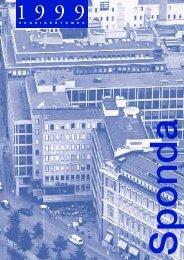 Sponda Vuosikertomus 1999 - Sijoittajat - Sponda