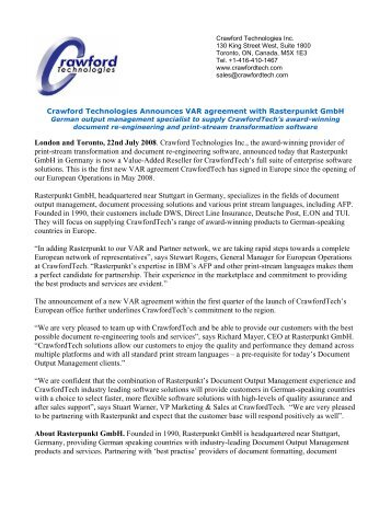Checksum announces distribution agreement with covenant crawford technologies announces var agreement with platinumwayz