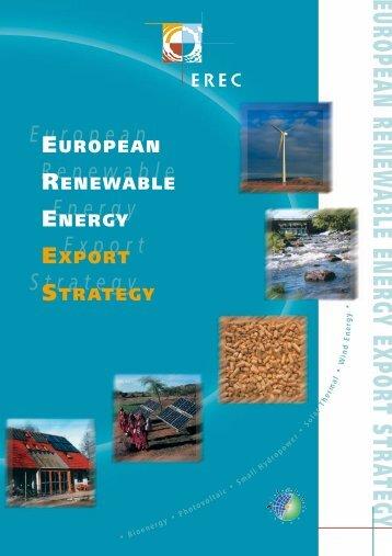 European Renewable Energy Export Strategy