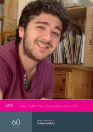 Drama   English   Music   Screen Media and Journalism school of Arts