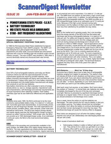 Issue 35 - Scanner Digest Newsletter