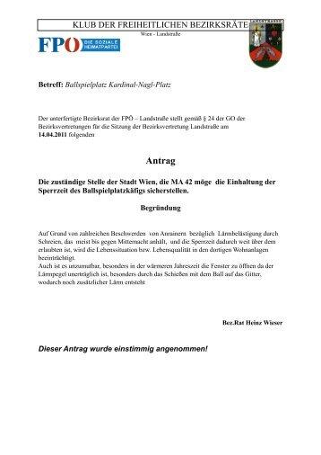 BV-Sitzung April 2011 - Landstraßer FPÖ