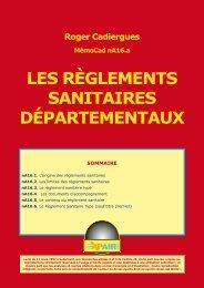LES RÈGLEMENTS SANITAIRES DÉPARTEMENTAUX