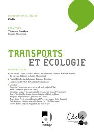 ET ÉCOLOGIE TRANSPORTS - Cédis Formation