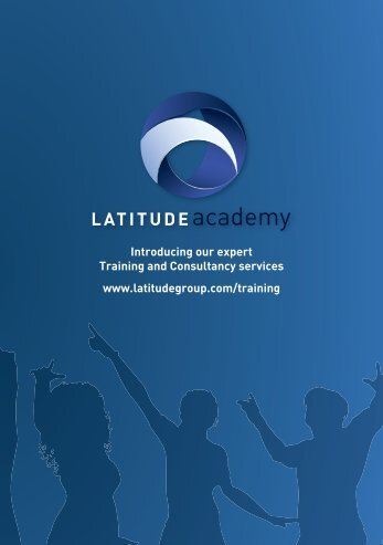 Introducing our expert Training and Consultancy services ... - Latitude