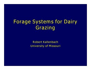 Forage Systems for Dairy Grazing