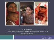 CAS DP presentation - United Nations in Bangladesh