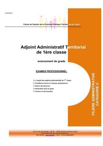 L 39 examen professionnel d 39 adjoint technique de 1 re classe - Grille indiciaire adjoint administratif ere classe ...