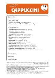 N. 7-8 - Notiziario dei Frati Cappuccini (luglio-agosto 2009)