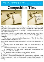 Competition Time - Waddington Street Centre