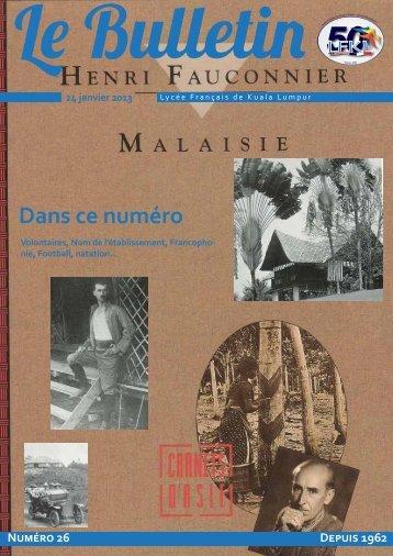 Bulletin du 24/01/13 - Lycée Français Kuala Lumpur