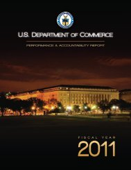 Management's Discussion and Analysis - Department of Commerce