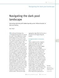 Navigating the dark pool landscape - Autobahn - Deutsche Bank