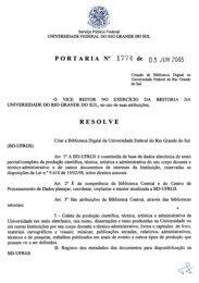 Portaria nº 1774/2005