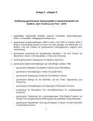 Anlage 6 – allegato 6 Auflistung gemeinsamer ... - Südtiroler Landtag