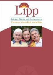 Hausprospekt Sniorenhem LIPP - und Pflegeheim Lipp