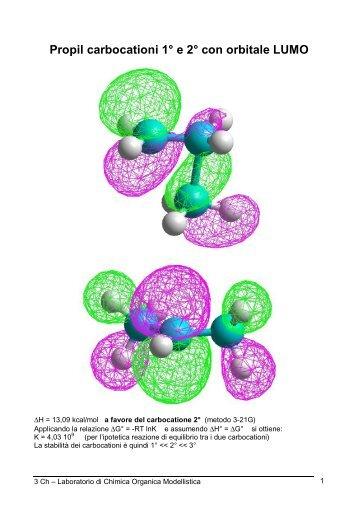 carbocationi-radicali-anioni calcolo energie e ... - PianetaChimica.it