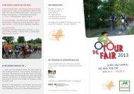 Flyer zur TOUR de FAIR 2013 - Eins in Christus - gesandt in die Welt