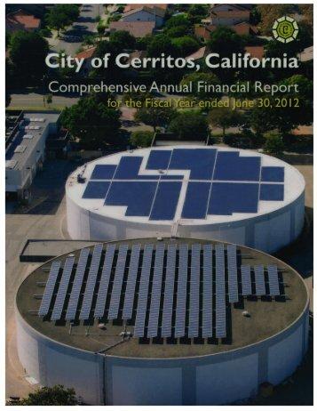 Audited City of Cerritos Comprehensive Annual Financial Report ...