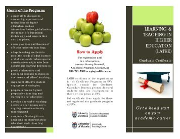 LATHE flyer - Learning and Teaching Centre