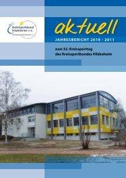 Jahresbericht 2010 · 2011 zum 52 ... - Kreissportbund Hildesheim e.V.