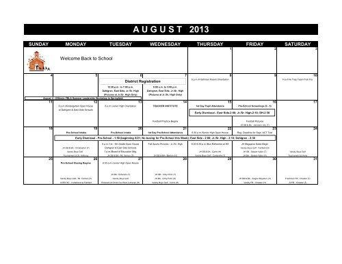 Hamilton County School Calendar.Printable Calendar Hamilton County Unit 10 School District