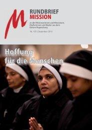 Nr. 103 - Dezember 2010 - Arbeitsstelle Weltkirche