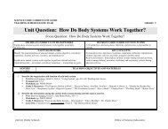 Unit Question: How Do Body Systems Work Together? - myDPS