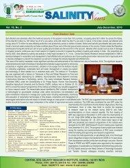 Salinity News - CSSRI Karnal
