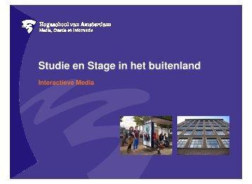 Studie en Stage in het buitenland - Intranet