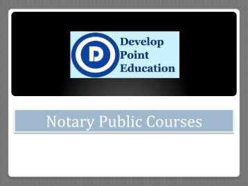 Notary Public Courses