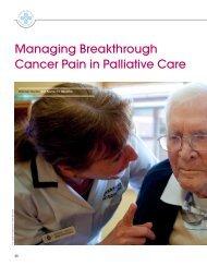 Managing Breakthrough Cancer Pain in Palliative Care