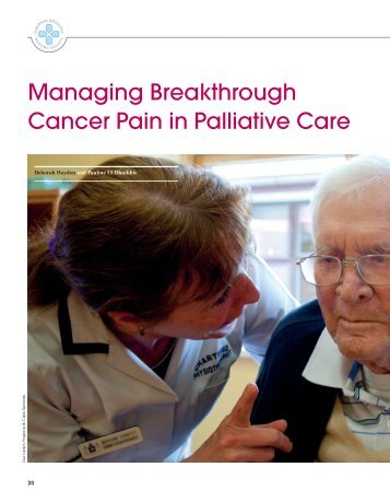 Managing Breakthrough Cancer Pain in Palliative Care