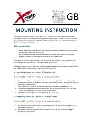 MOUNTING INSTRUCTION