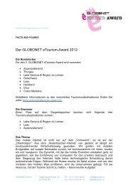 facts and figures globonet etourism-Award 2012