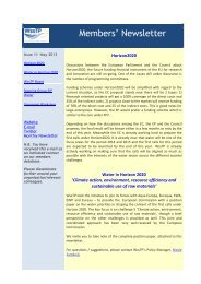 Members' Newsletter - Danish Water Forum