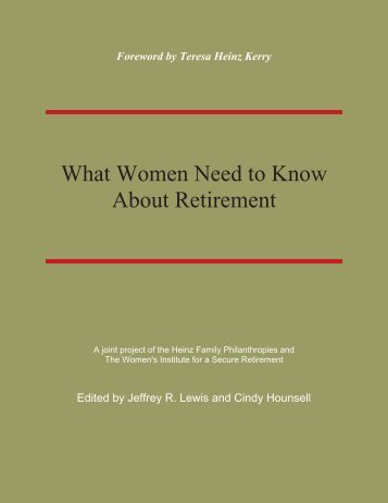 Women and Retirement Income - Women's Institute for a Secure ...