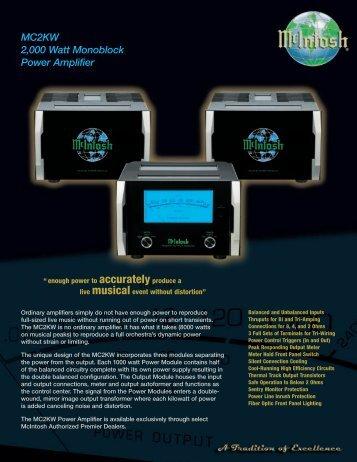 MC2KW 2,000 Watt Monoblock Power Amplifier - Who-sells-it.com